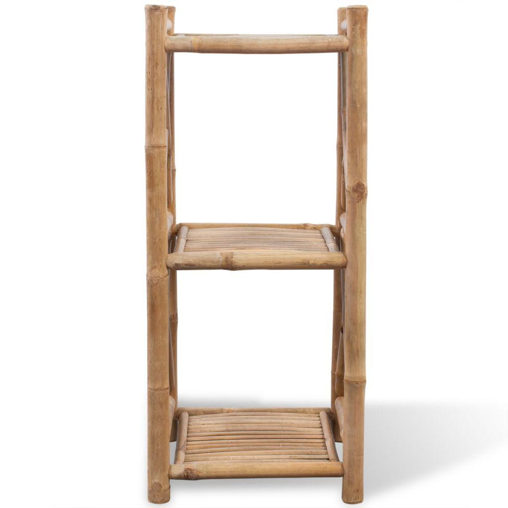 Fyrkantig hylla i bambu 3 våningar