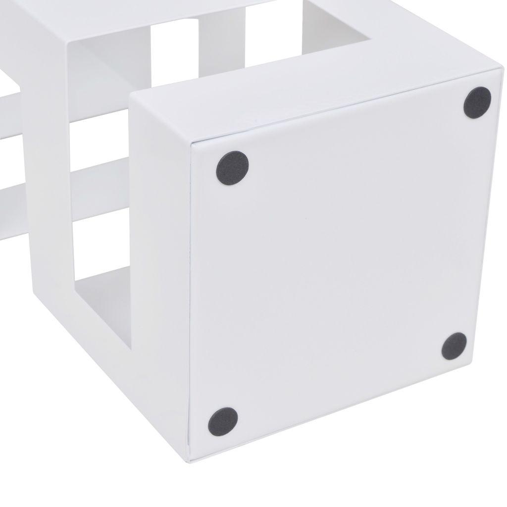 vidaXL Paraplyställ 48,5 cm fyrkantig stål svart