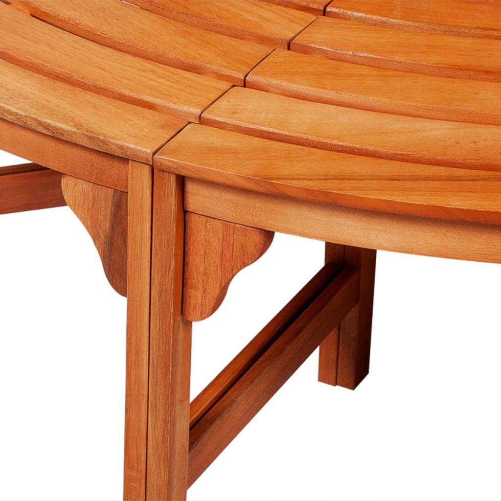 Trädbänk Ø 160 cm trä
