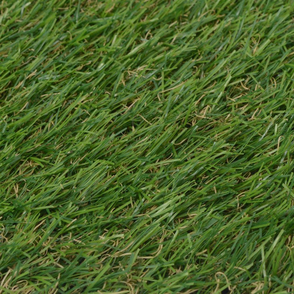 vida XL Konstgräsmatta 1x10 m/20-25 mm Grön