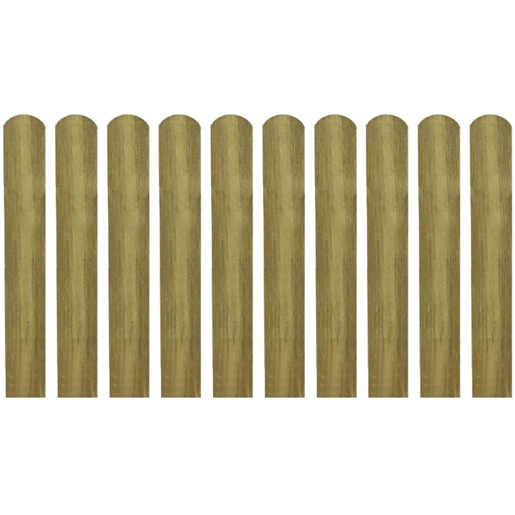 Impregnerade staketribbor 10 st trä 60 cm