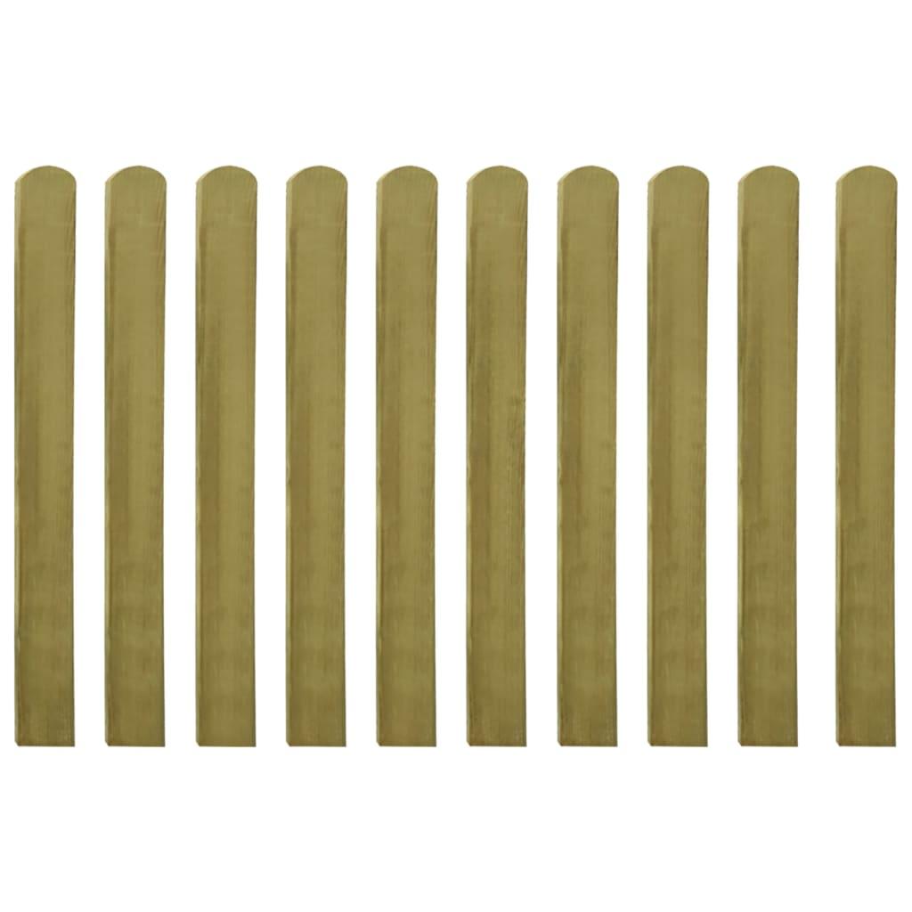 Impregnerade staketribbor 10 st trä 100 cm