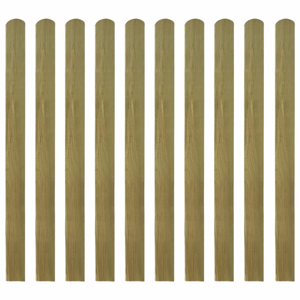 Impregnerade staketribbor 10 st trä 120 cm