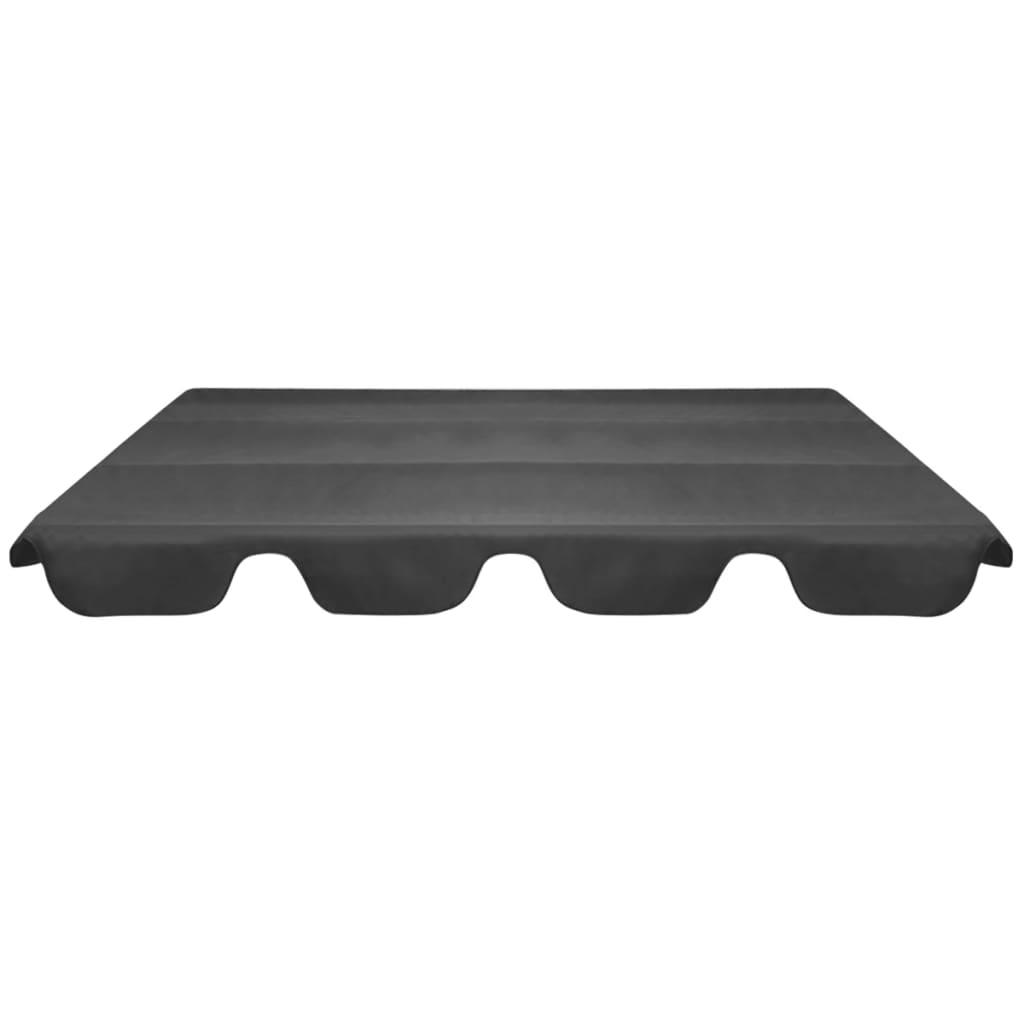 Reservtak för hammock grå 226x186 cm