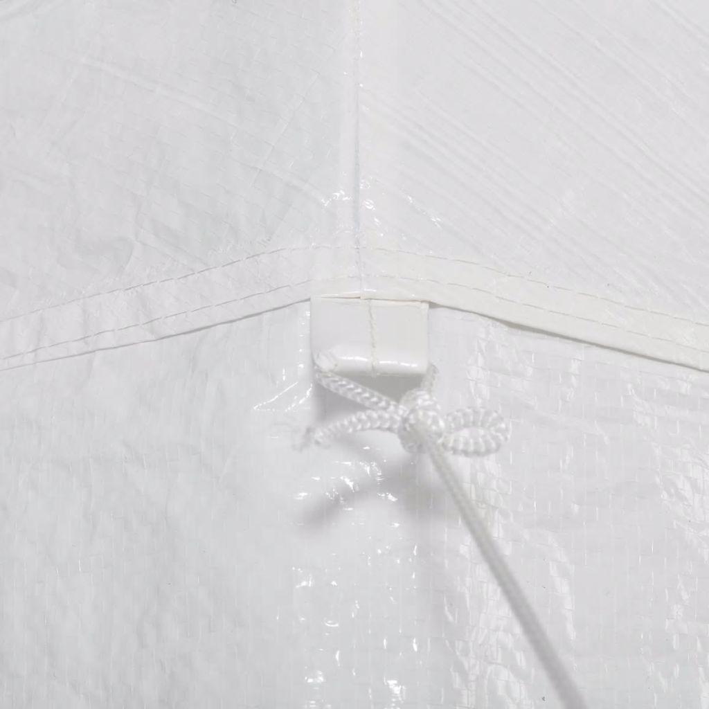 Partytält med 6 sidoväggar vit 2x2 m