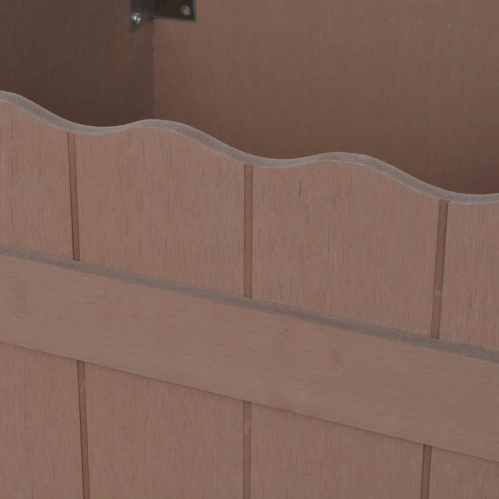WPC Odlingslåda upphöjd 40x40x25 cm brun