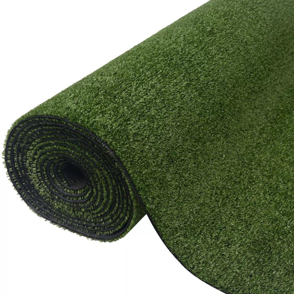 Konstgräsmatta 1 x 15 m/7-9 mm grön