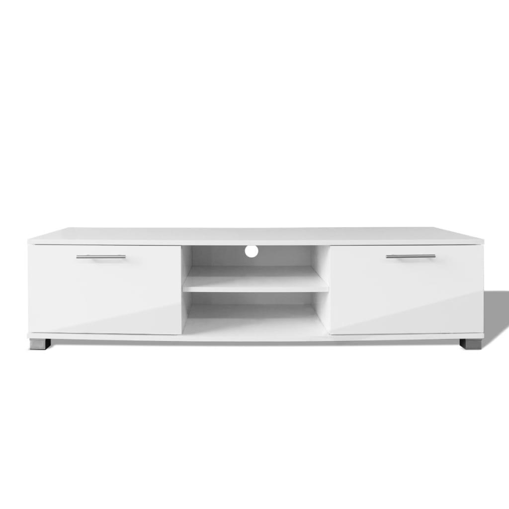 vidaXL TV-bänk högglans vit 120x40,3x34,7 cm