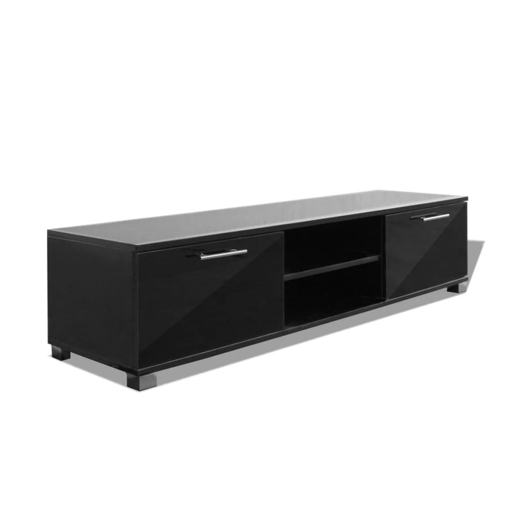 vidaXL TV-bänk högglans svart 120x40,3x34,7 cm