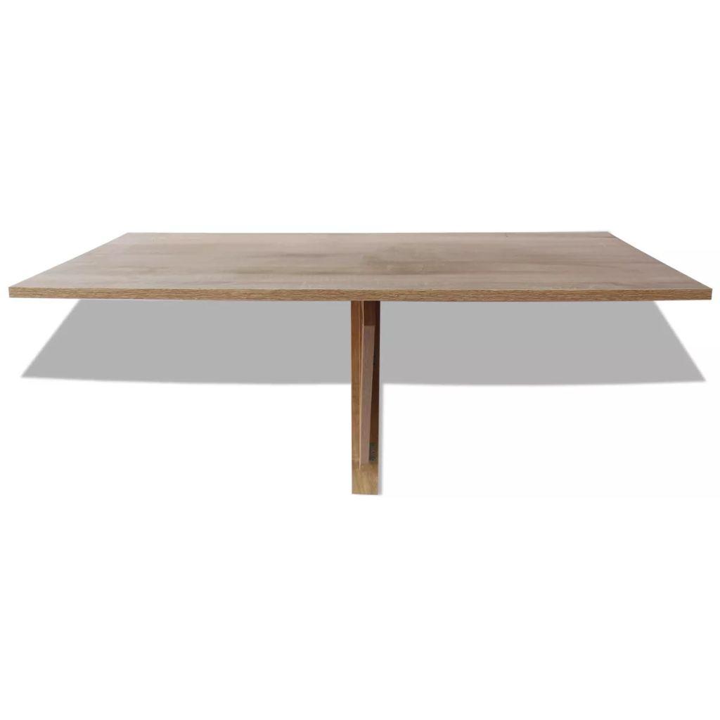 vidaXL Väggmonterat klaffbord 100x60 cm ek