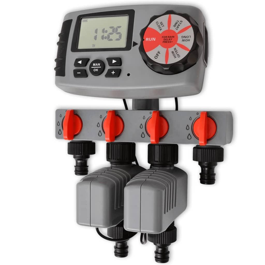 42352 Automatisk bevattningstimer med 4 stationer 3 V