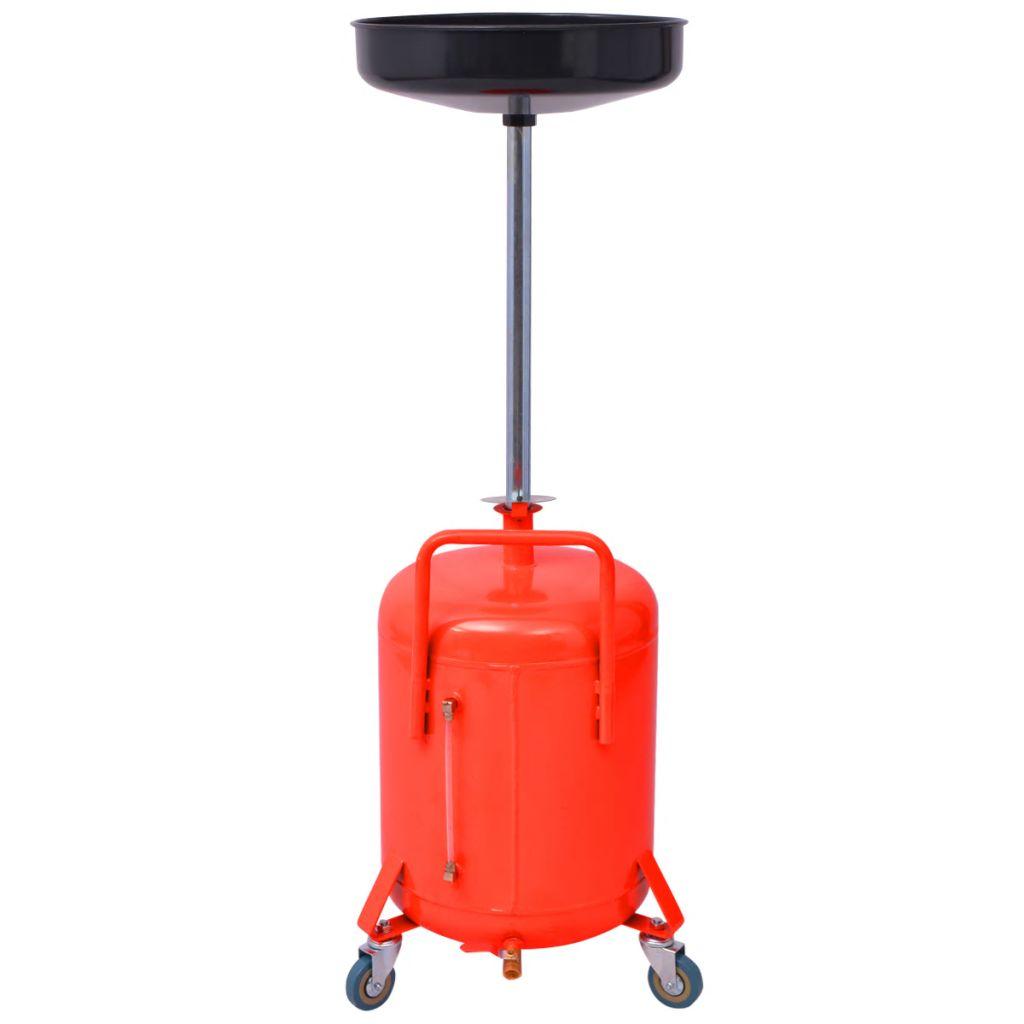vidaXL Spilloljebehållare 49,5 L stål röd