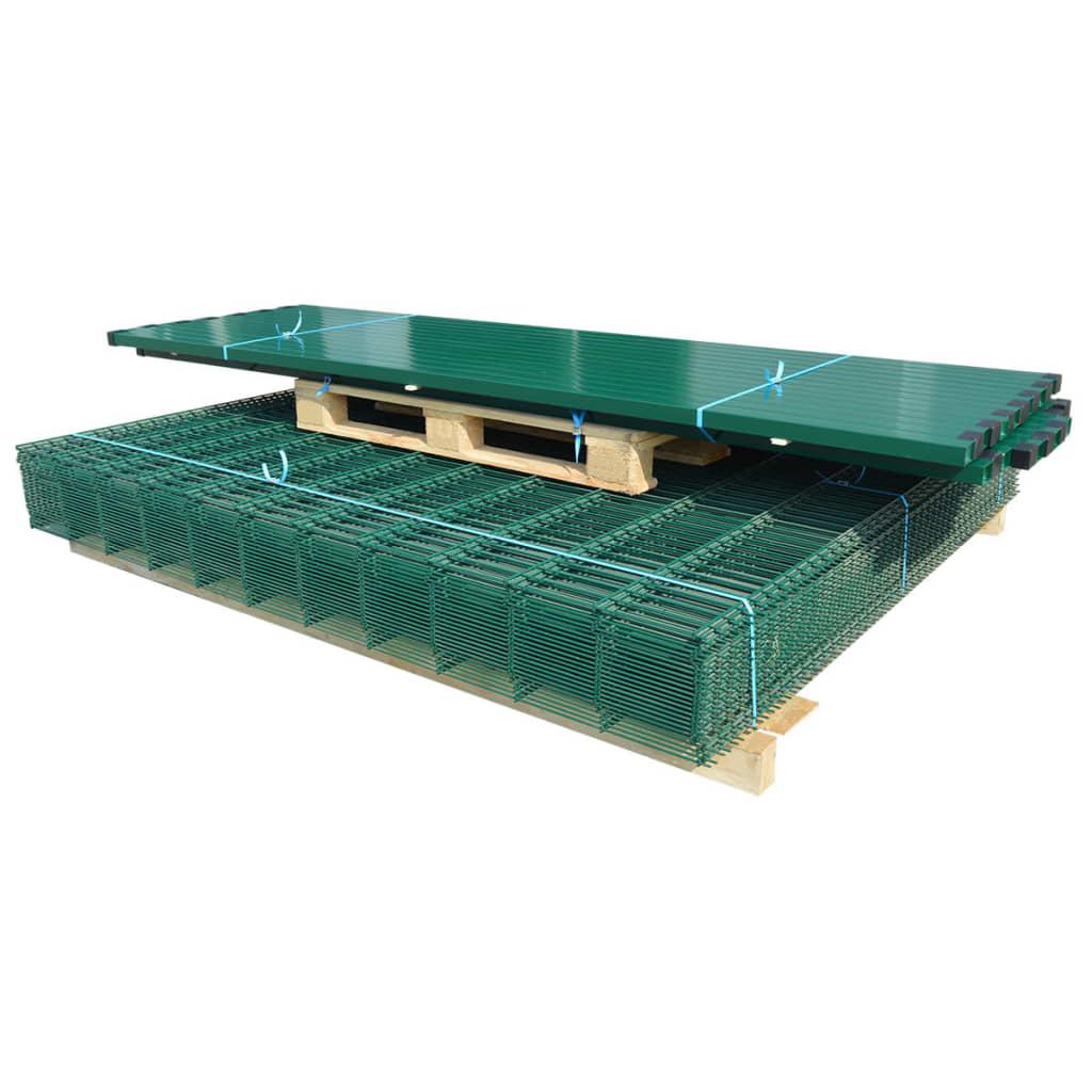 2D Stängselpaneler med stolpar 2008x2230 mm 34 m grön