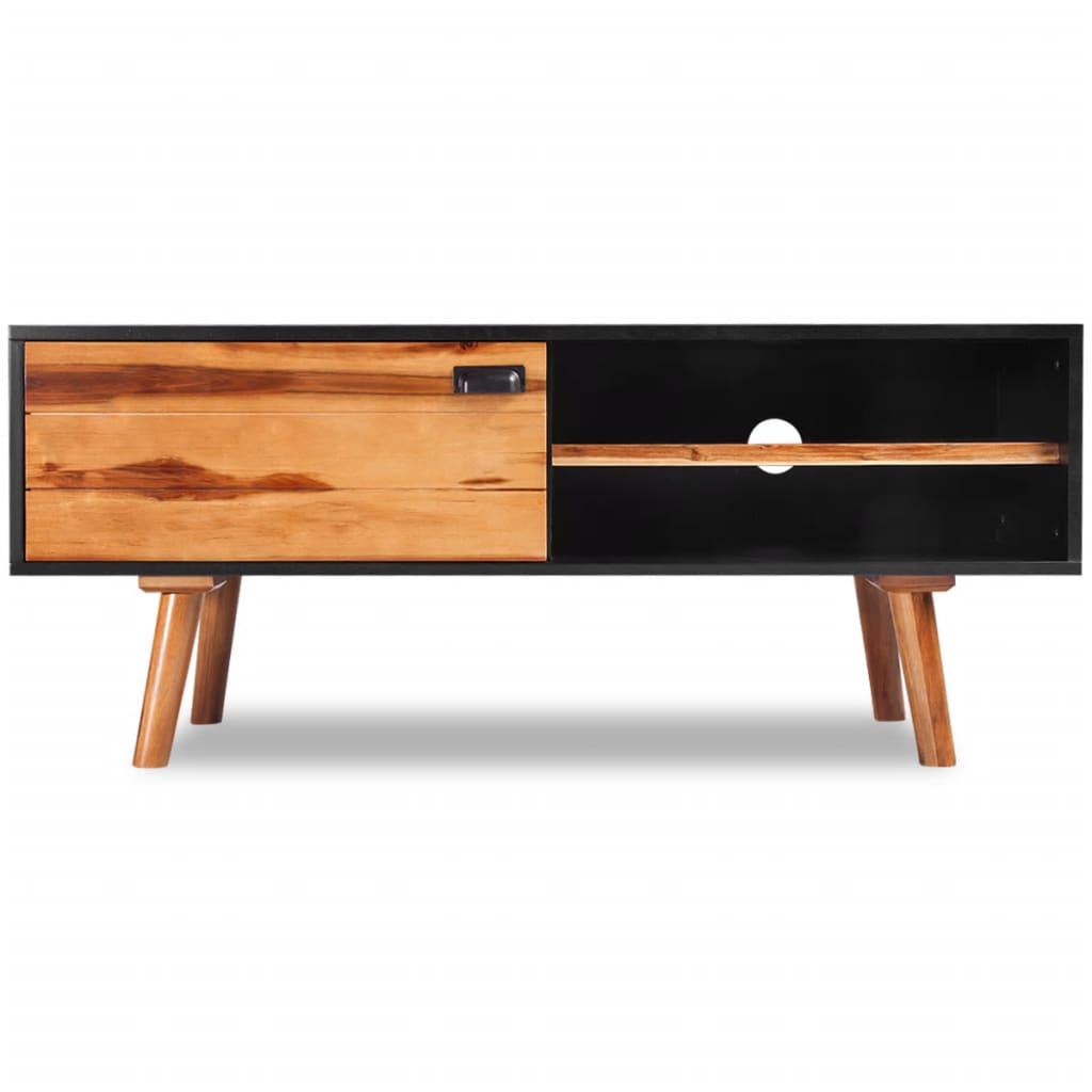 vidaXL TV-bänk i massivt akaciaträ 120x35x50 cm