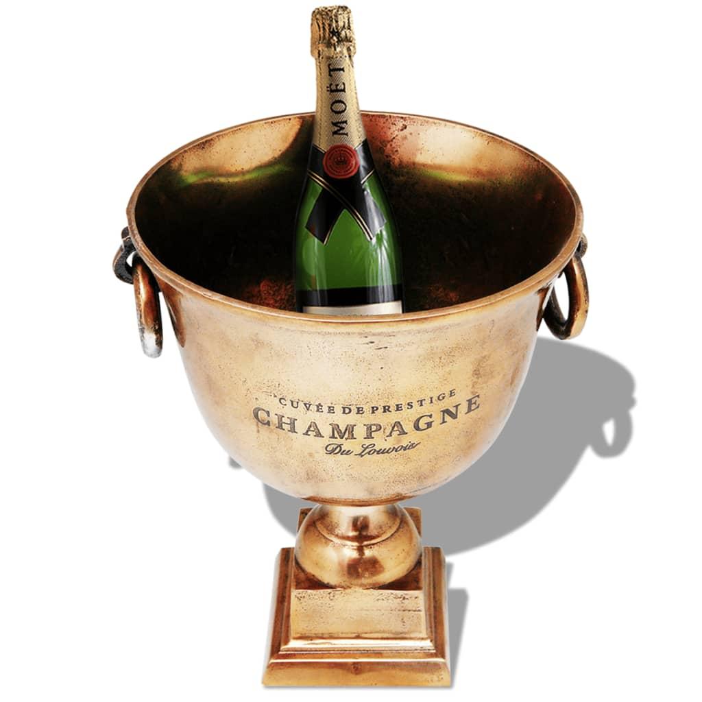 vidaXL Pokal champagnekylare koppar brun