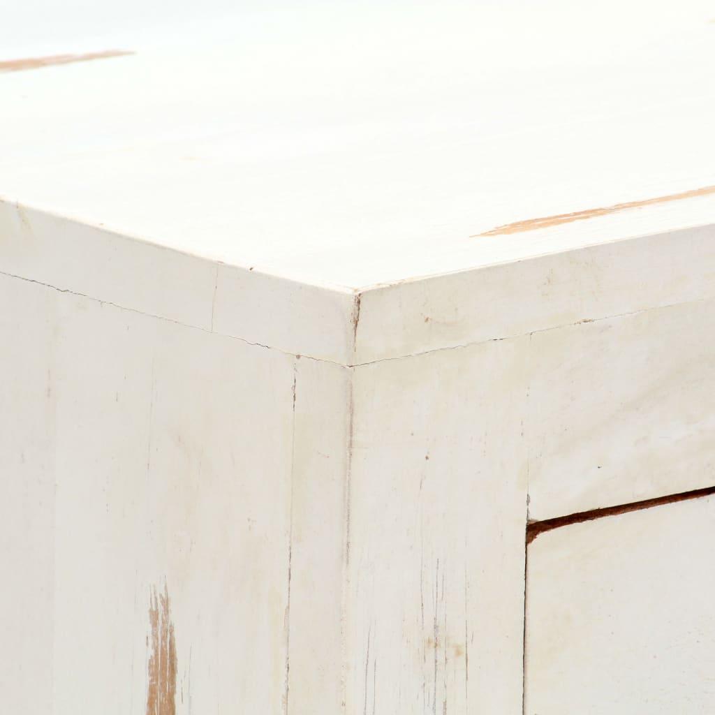Skänk vit 58x30x75 cm massivt akaciaträ