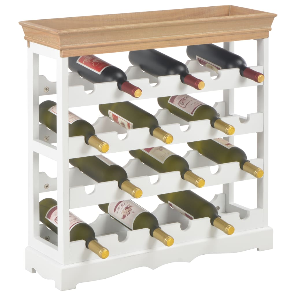 Vinskåp vit 70x22,5x70,5 cm MDF