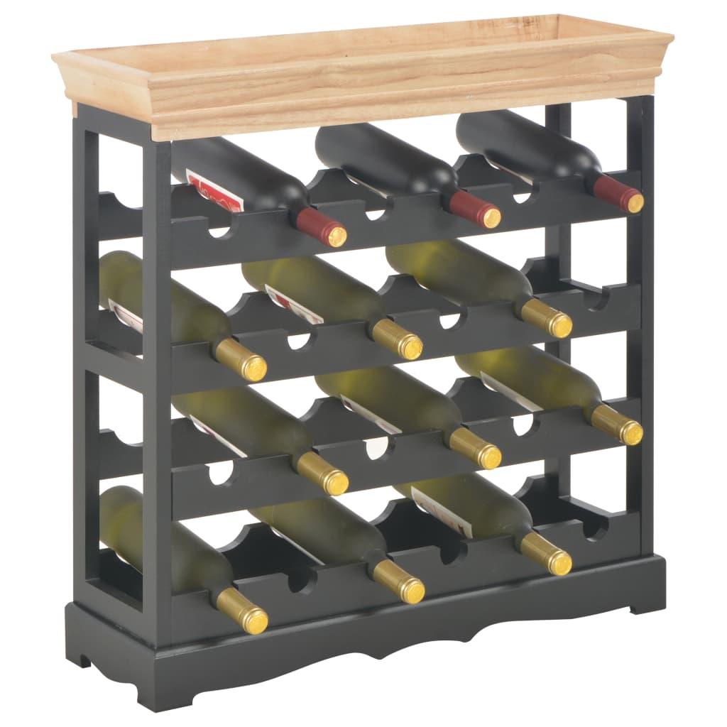 Vinskåp svart 70x22,5x70,5 cm MDF