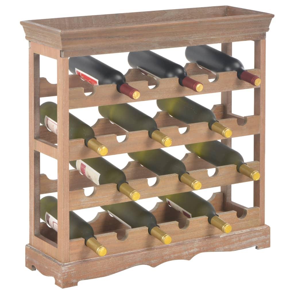 Vinskåp brun 70x22,5x70,5 cm MDF