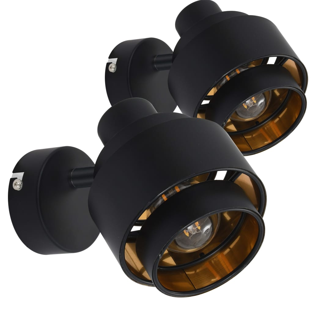 Spotlights 2 st svart E14
