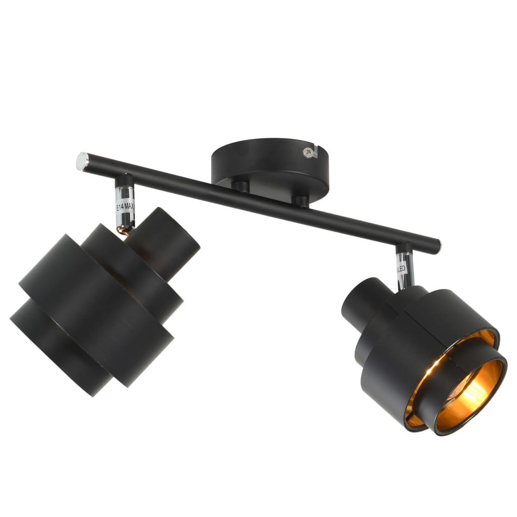 2-vägs spotlight svart E14