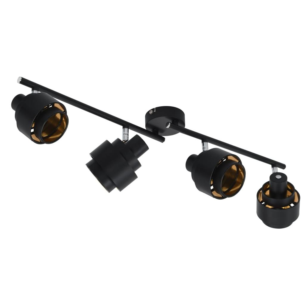 4-vägs spotlight svart E14