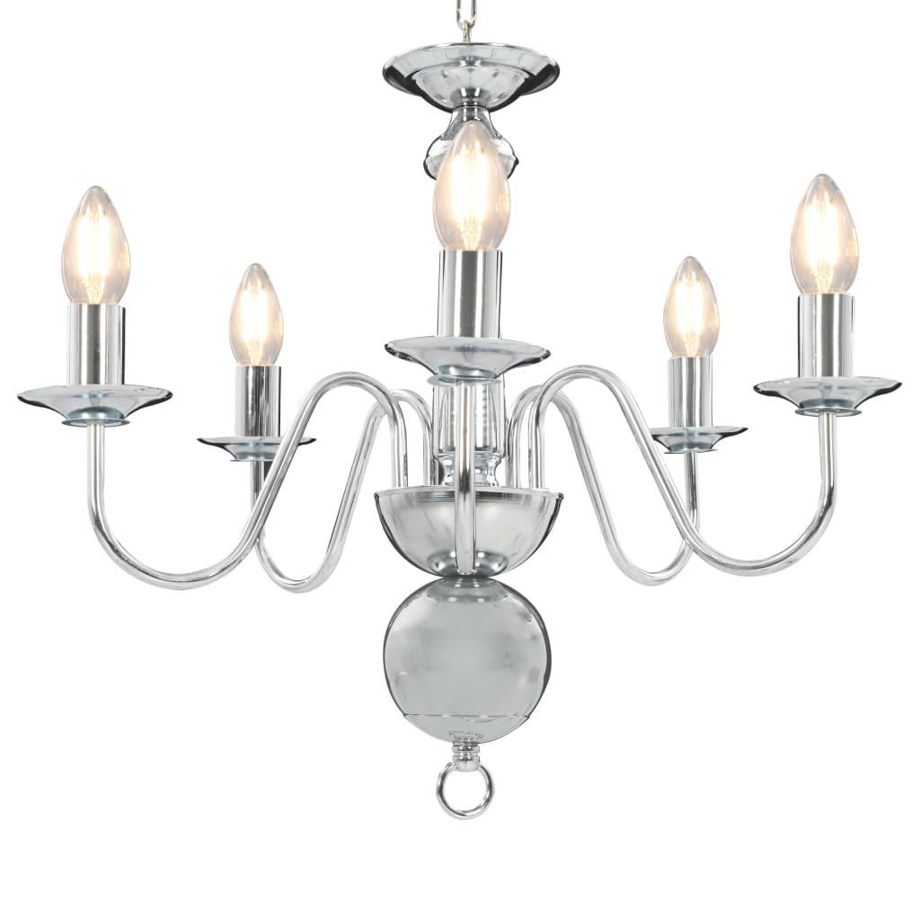 Takkrona silver 5 x E14-glödlampor