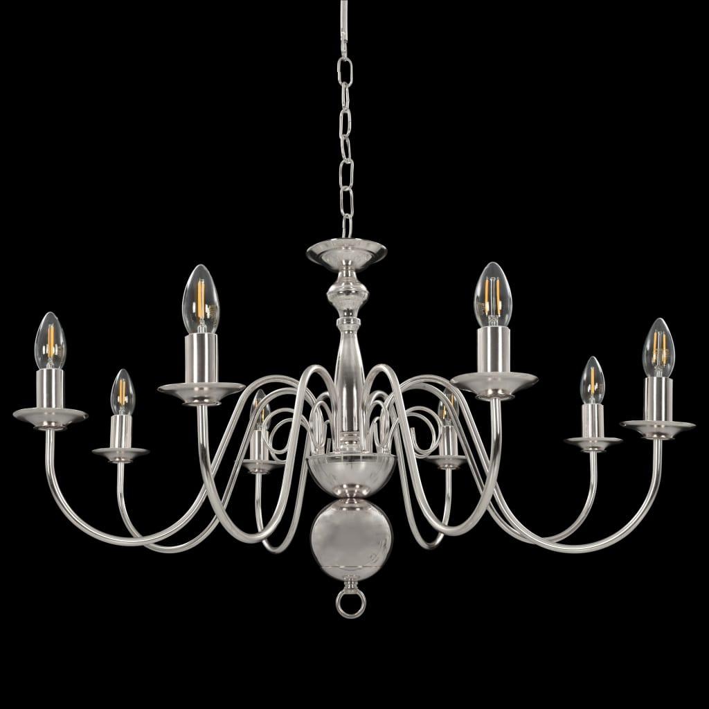 Takkrona silver 8 x E14-glödlampor