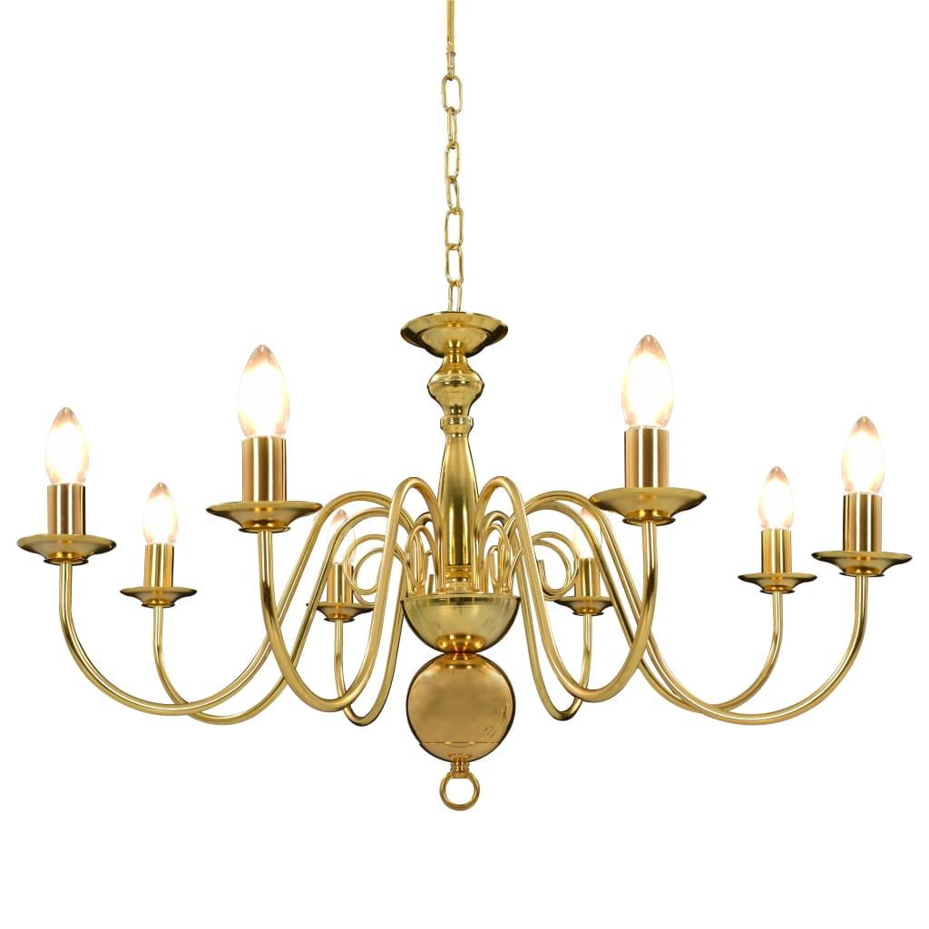 Takkrona guld 8 x E14-glödlampor
