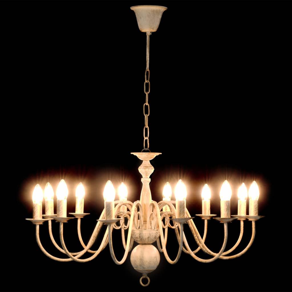 Takkrona antikvit 12 x E14-glödlampor