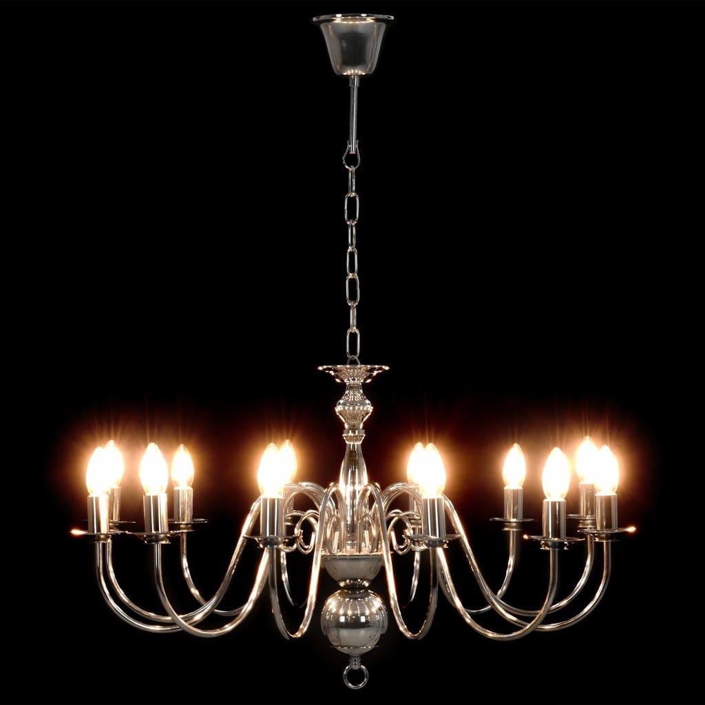 Takkrona silver 12 x E14-glödlampor
