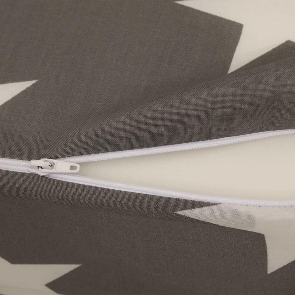 Tredelad skummadrass 190 x 70 x 9 cm grå