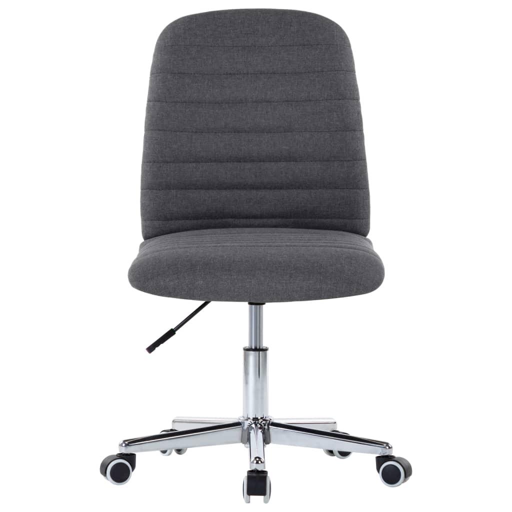 Snurrbar kontorsstol mörkgrå tyg