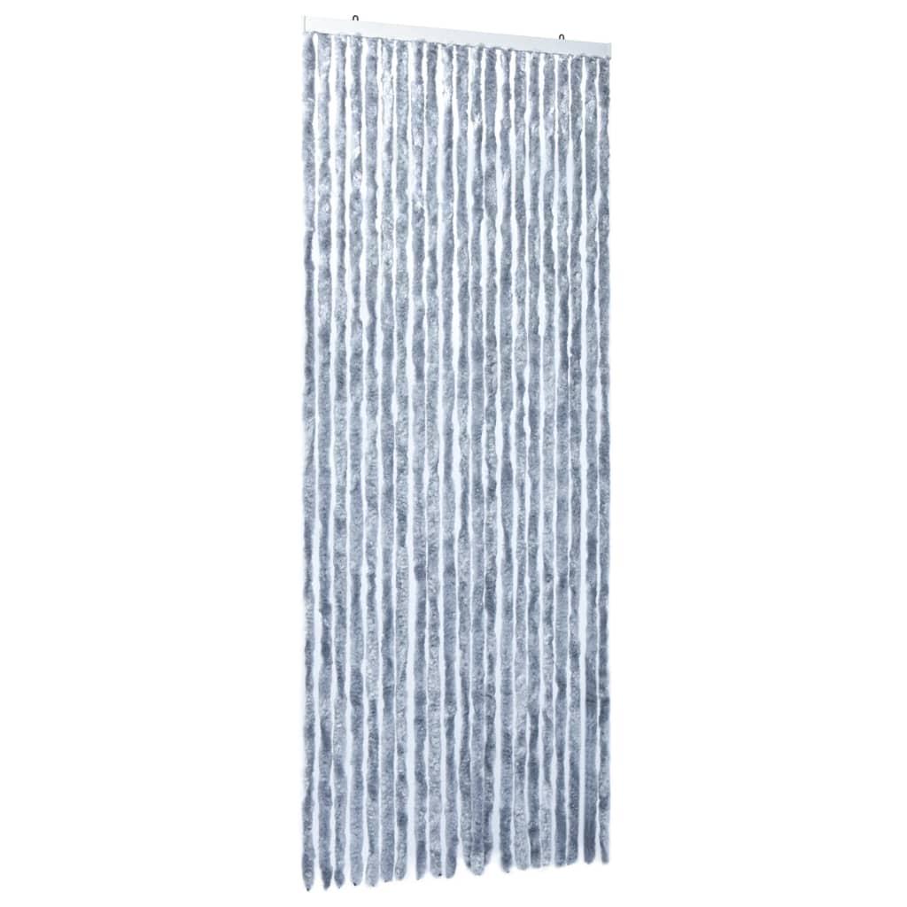 Insektsdraperi silver 90x220 cm chenille