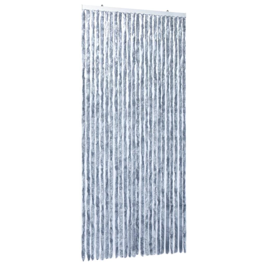 Insektsdraperi silver 100x220 cm chenille