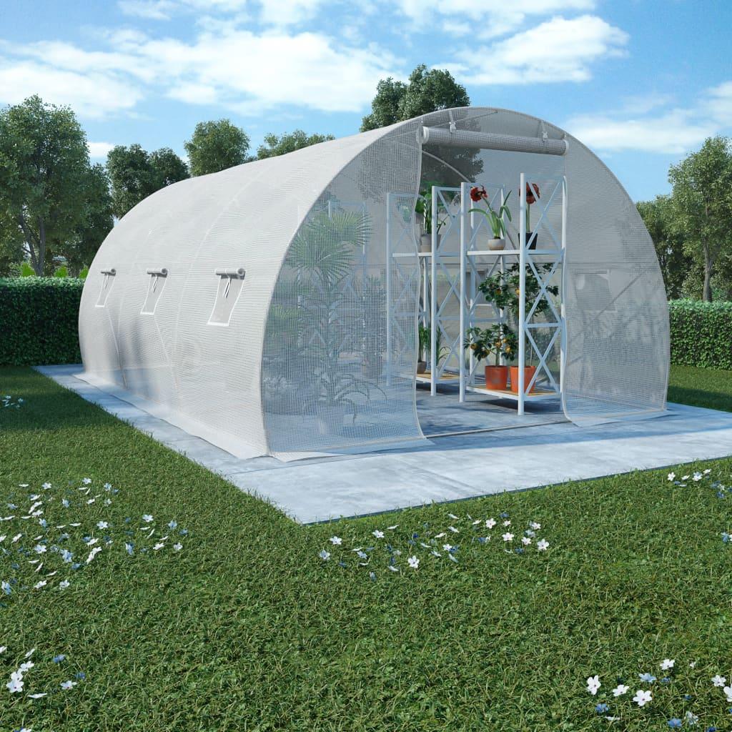 Växthus 13,5m² 450x300x200 cm