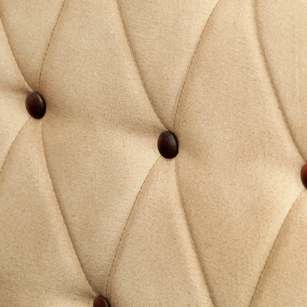 Chesterfieldsoffa 2-sits brun äkta läder