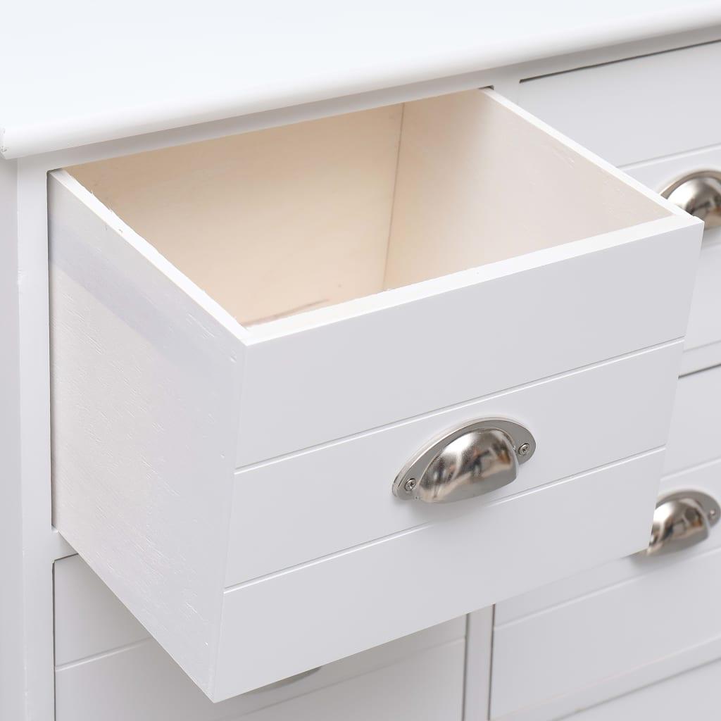 Byrå med 6 lådor vit 60x30x75 cm paulownia