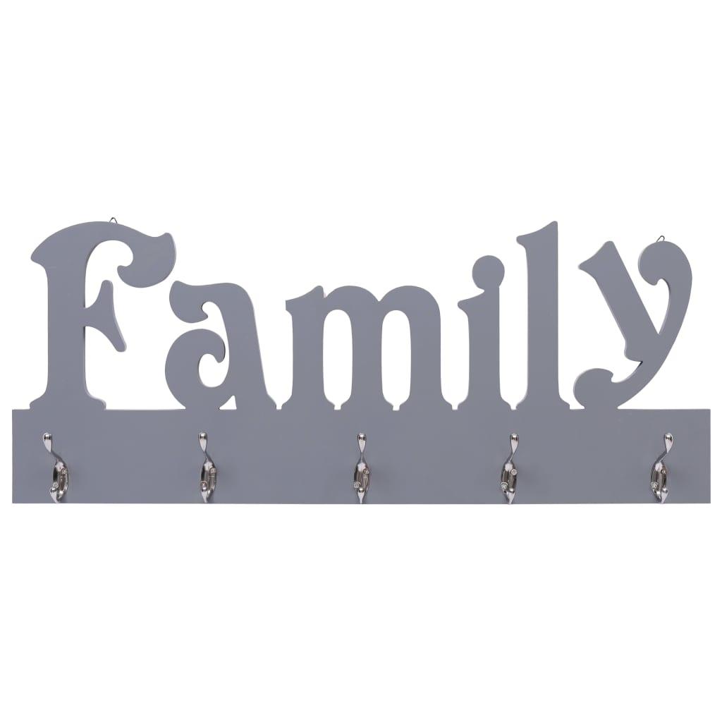 Väggkrokar FAMILY grå 74x29,5 cm