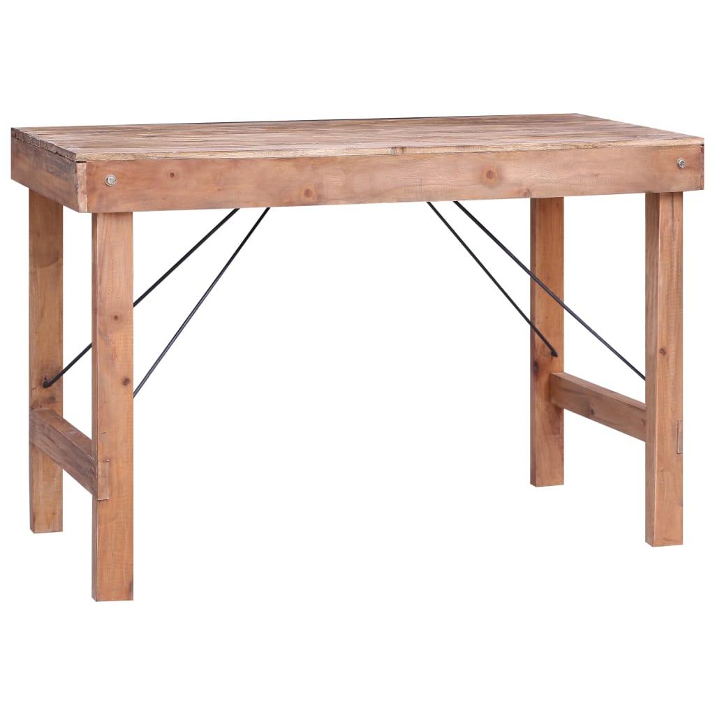 Matbord 120x60x80 cm massivt återvunnet trä