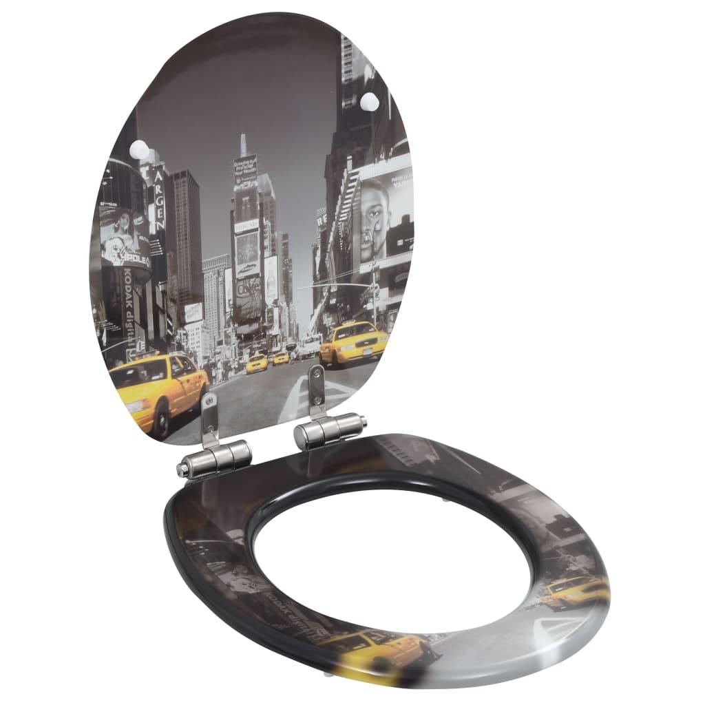 Toalettsitsar med mjuk stängning 2 st MDF New York