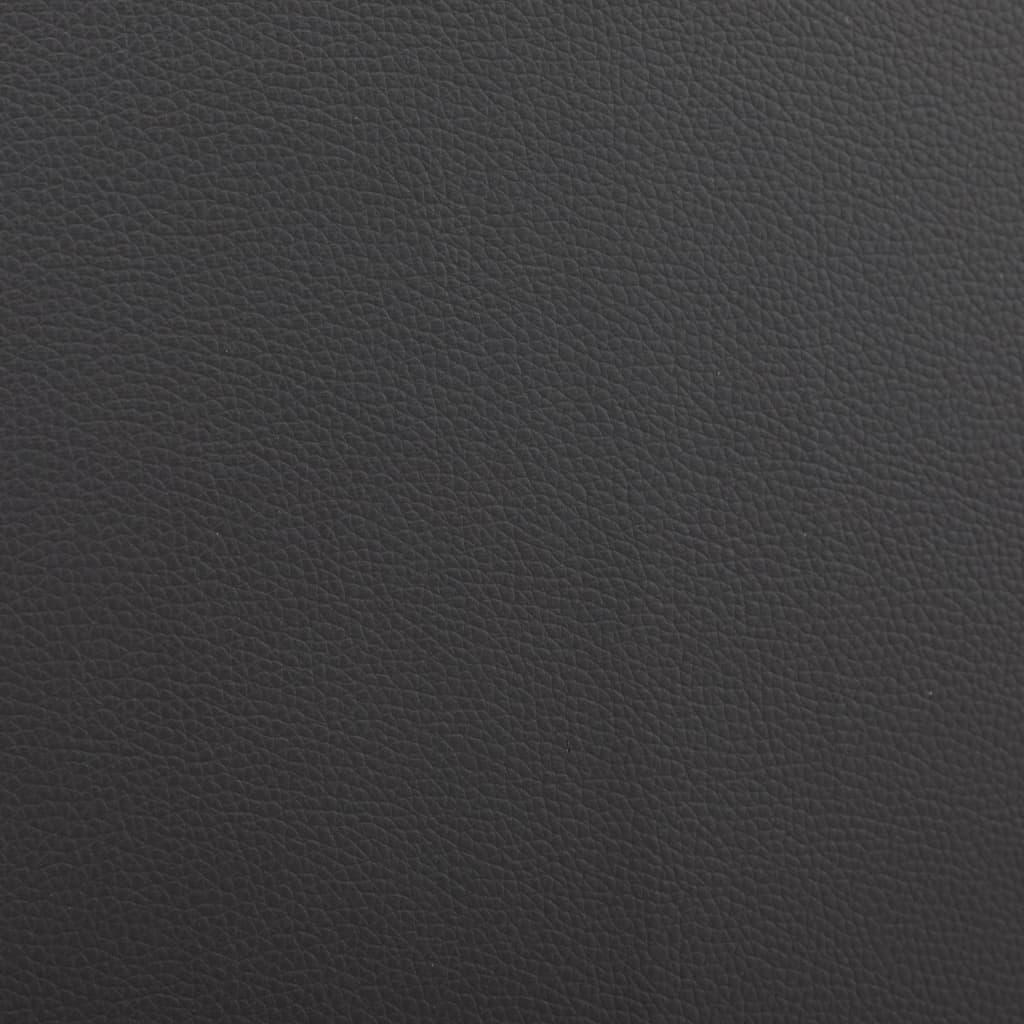 Säng med madrass svart och vit konstläder 180x200 cm