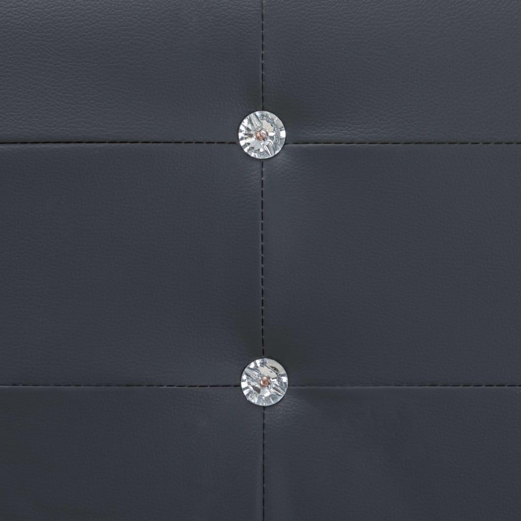 Säng med madrass svart konstläder 180x200 cm