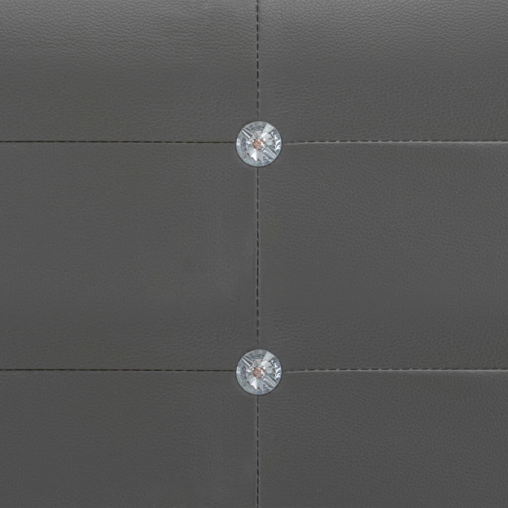 Säng med madrass grå konstläder 180x200 cm