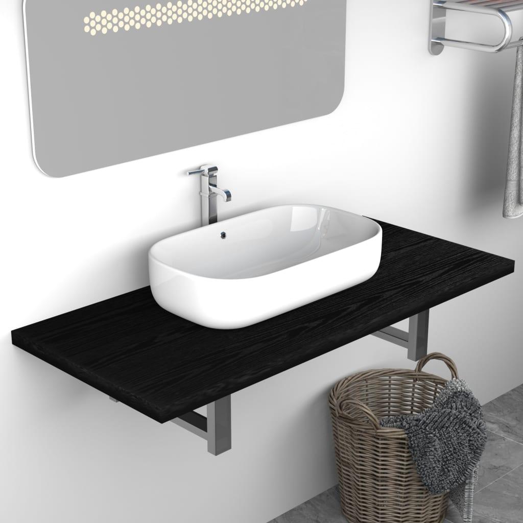 Badrumsmöbler svart 90x40x16,3 cm