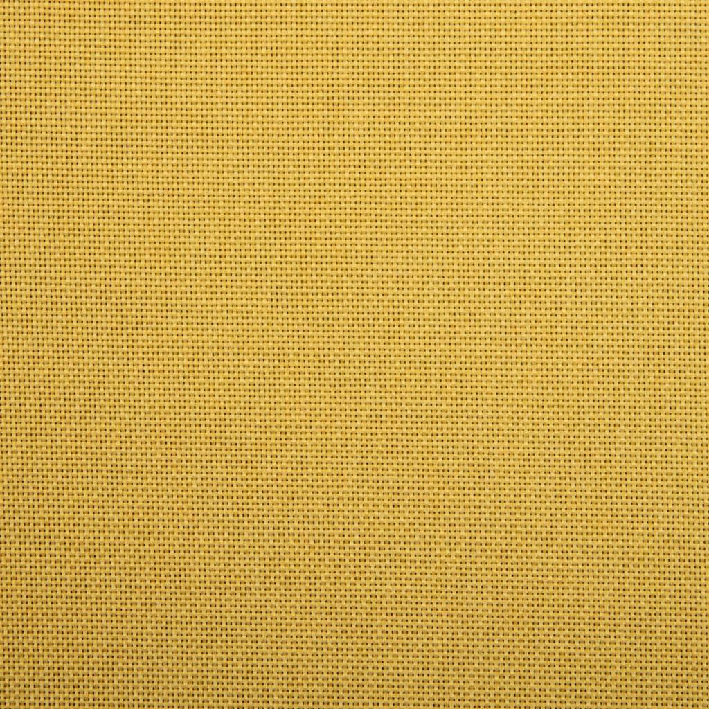 Snurrbar kontorsstol gul tyg