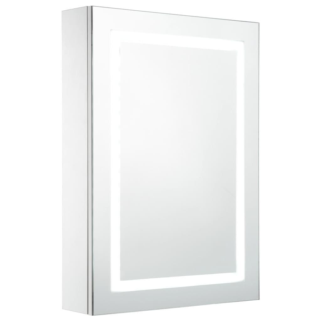 Badrumsskåp med spegel LED 50x13x70 cm