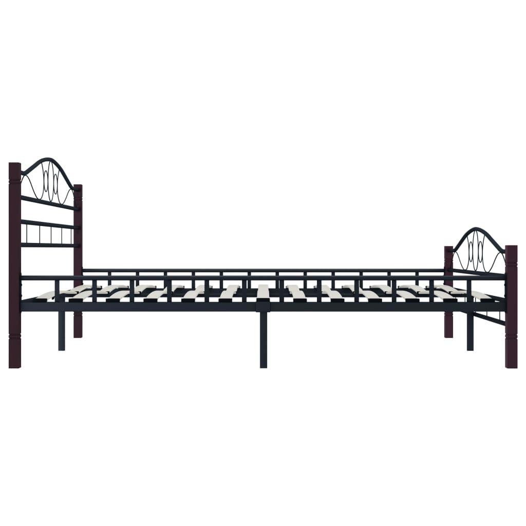 Sängram svart metall 160x200 cm