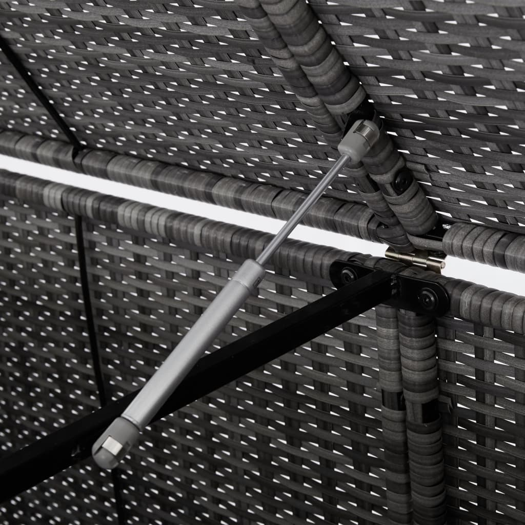 Skjul för 2 soptunnor konstrotting antracit 148x77x111 cm