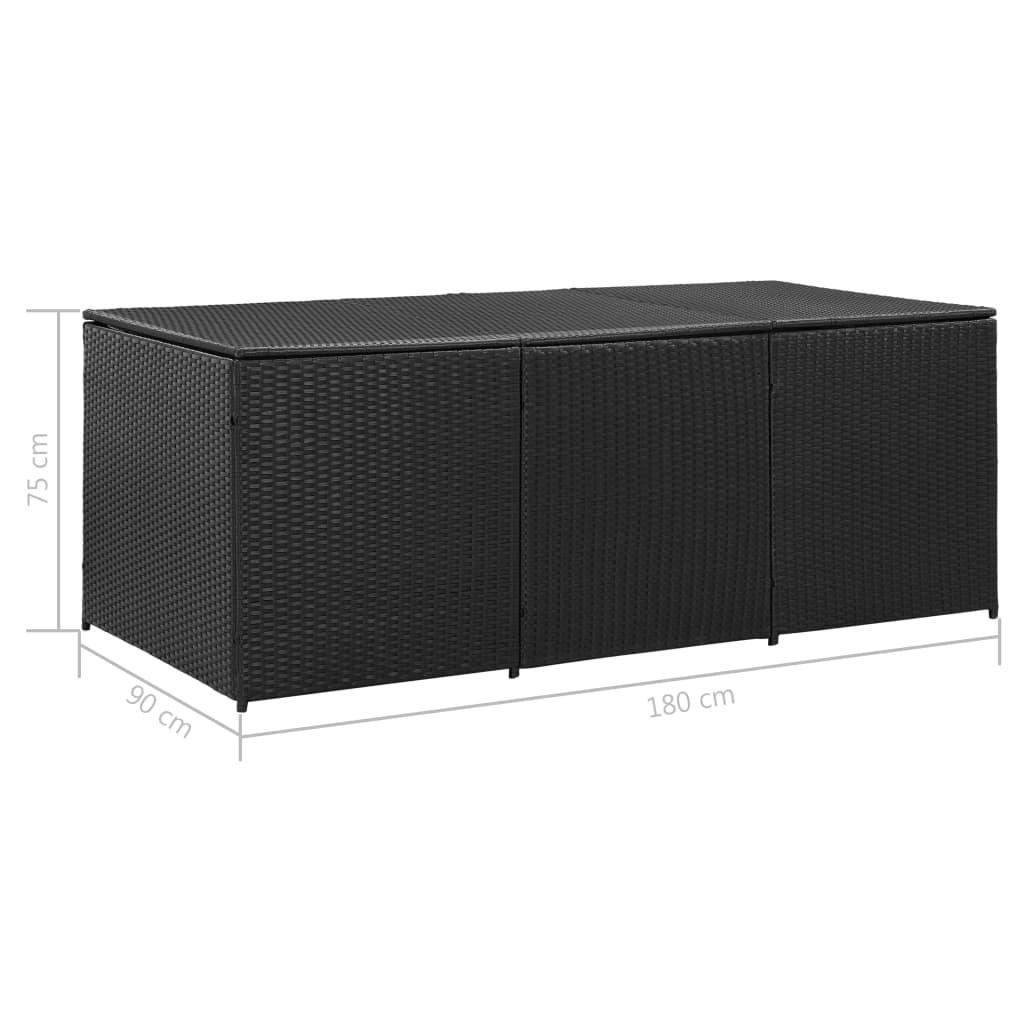 Dynbox konstrotting 180x90x75 cm svart